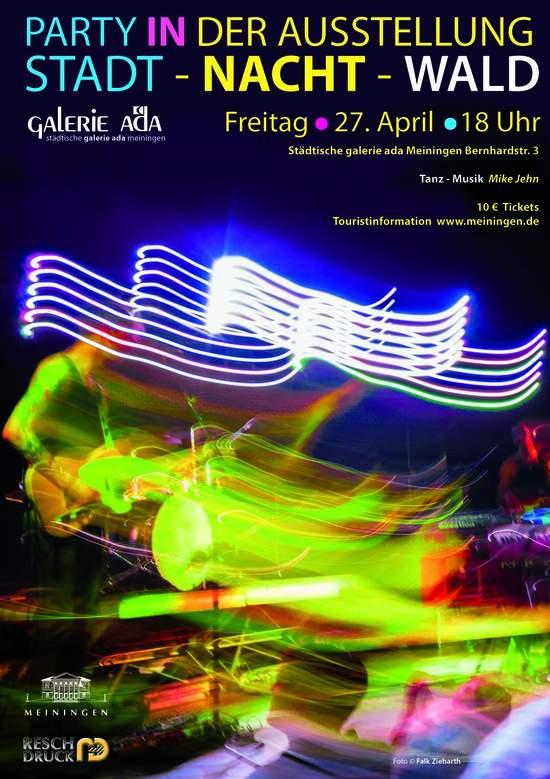 Plakat - Party in der Ausstellung
